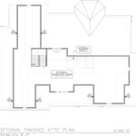 Optional Finished Attic Floor Plan for 258 Long Hill Drive, Short Hills