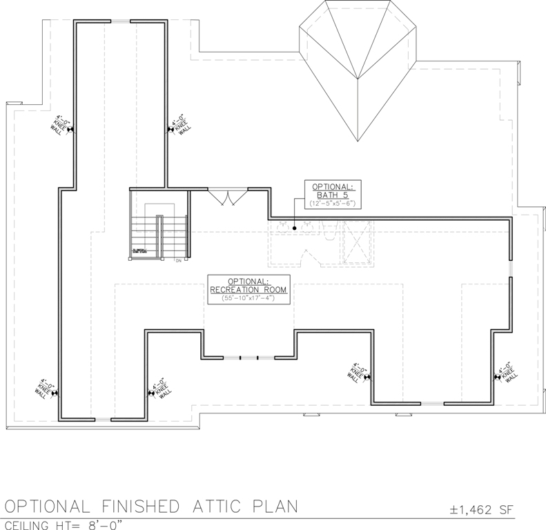 Optional Finished Attic Floor Plan For 258 Long Hill Drive