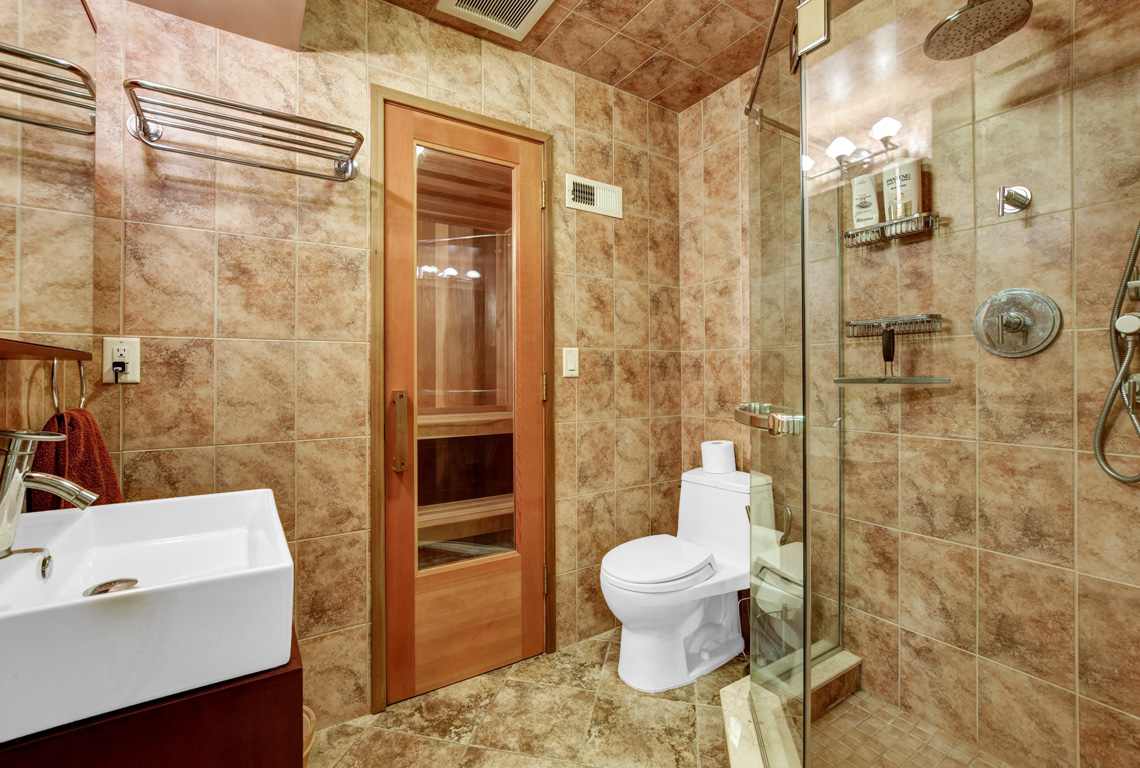 22 – 48 Holly Drive – Lower Level Full Bath with Sauna