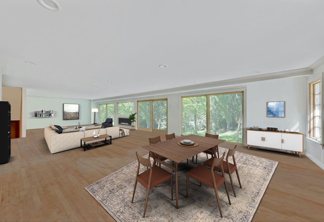 2 – 5 Farley Road – Kitchen into Family Room