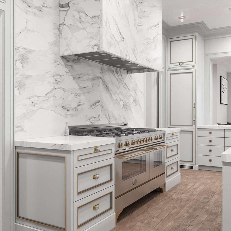 13 – 2 Jefferson Avenue – Gourmet Eat-in Kitchen Rendering