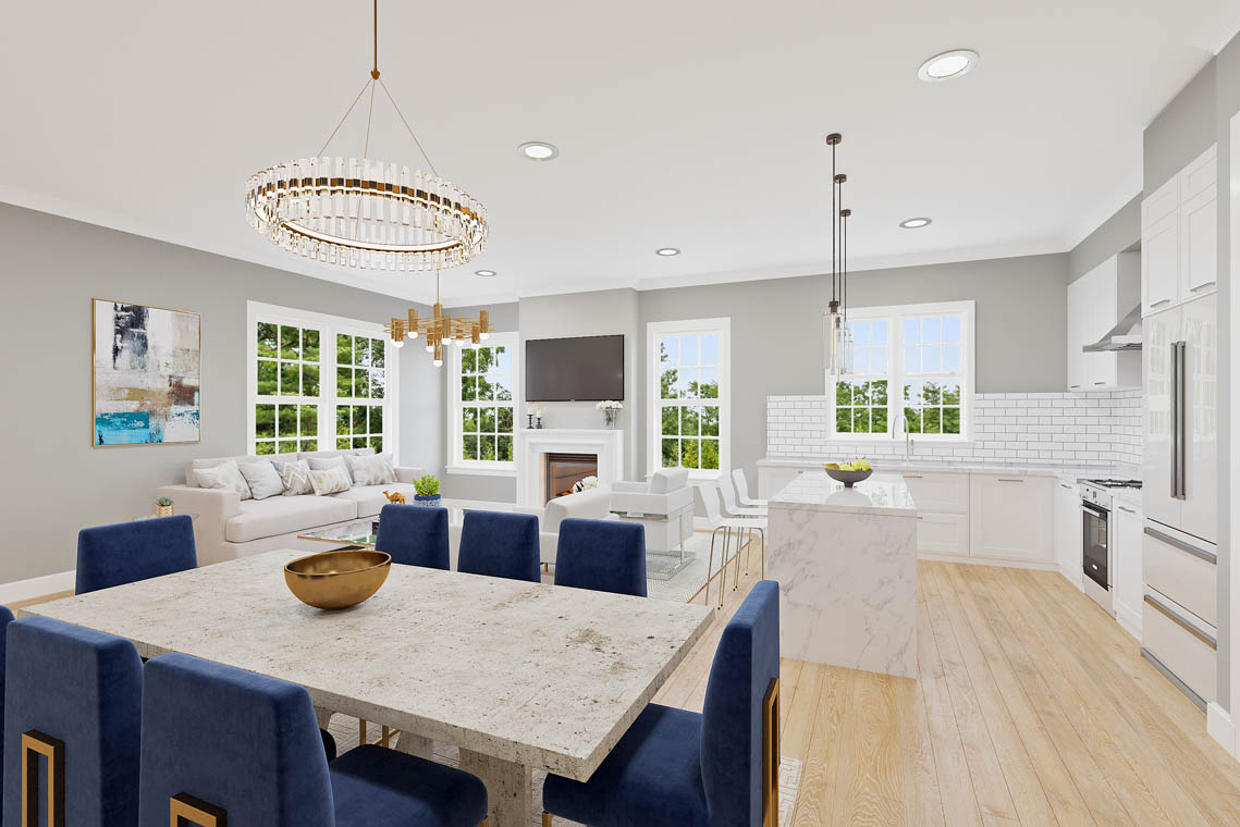 1 – 59 New England Avenue – Family Room Rendering