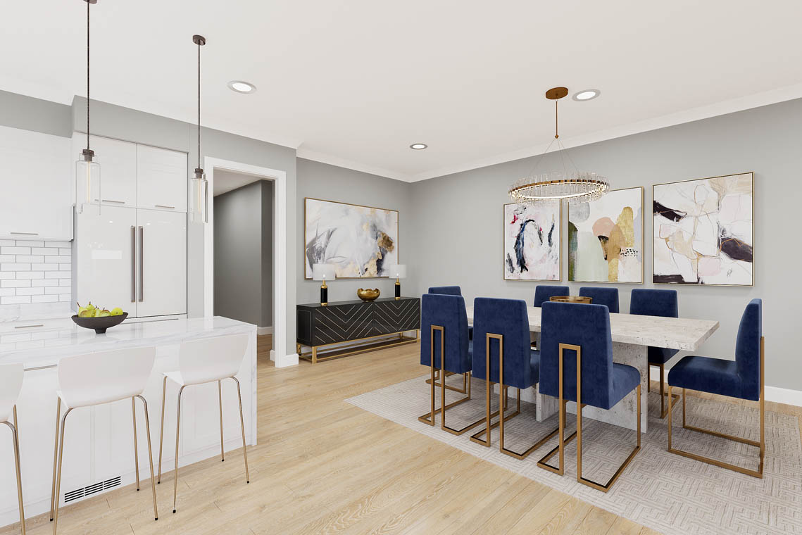 2 – 59 New England Avenue – Dining Room Rendering