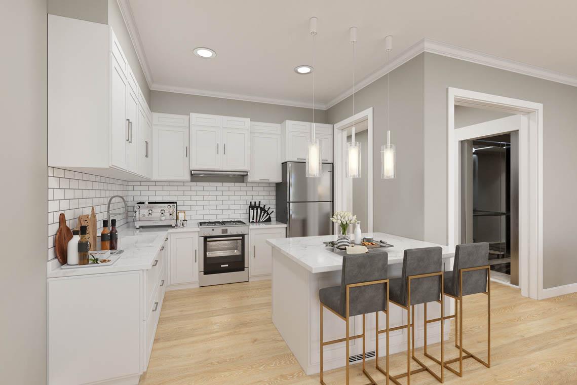 3 – 59 New England Avenue – Kitchen Rendering
