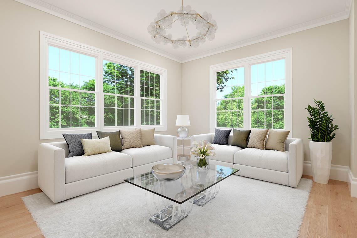 4 – 59 New England Avenue – Living Room Rendering