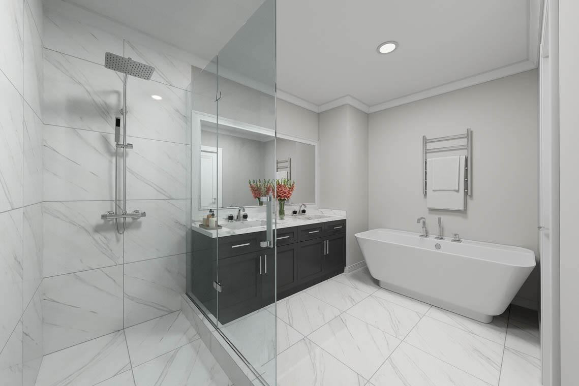 6 – 59 New England Avenue – Master Bath Rendering