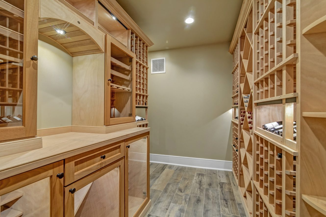22 – Wine Cellar – 20 Troy Drive, Example of Most Recent Project from Builder