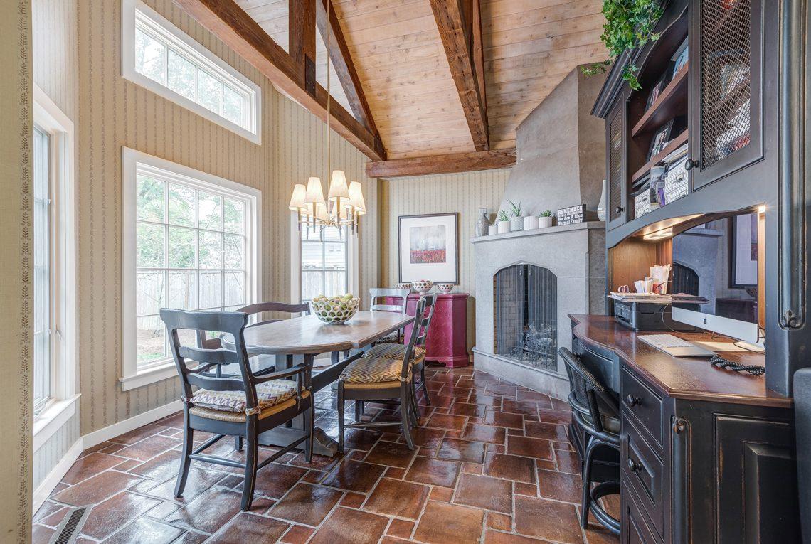 10 – 2 E Beechcroft Road – Breakfast Area with Fireplace