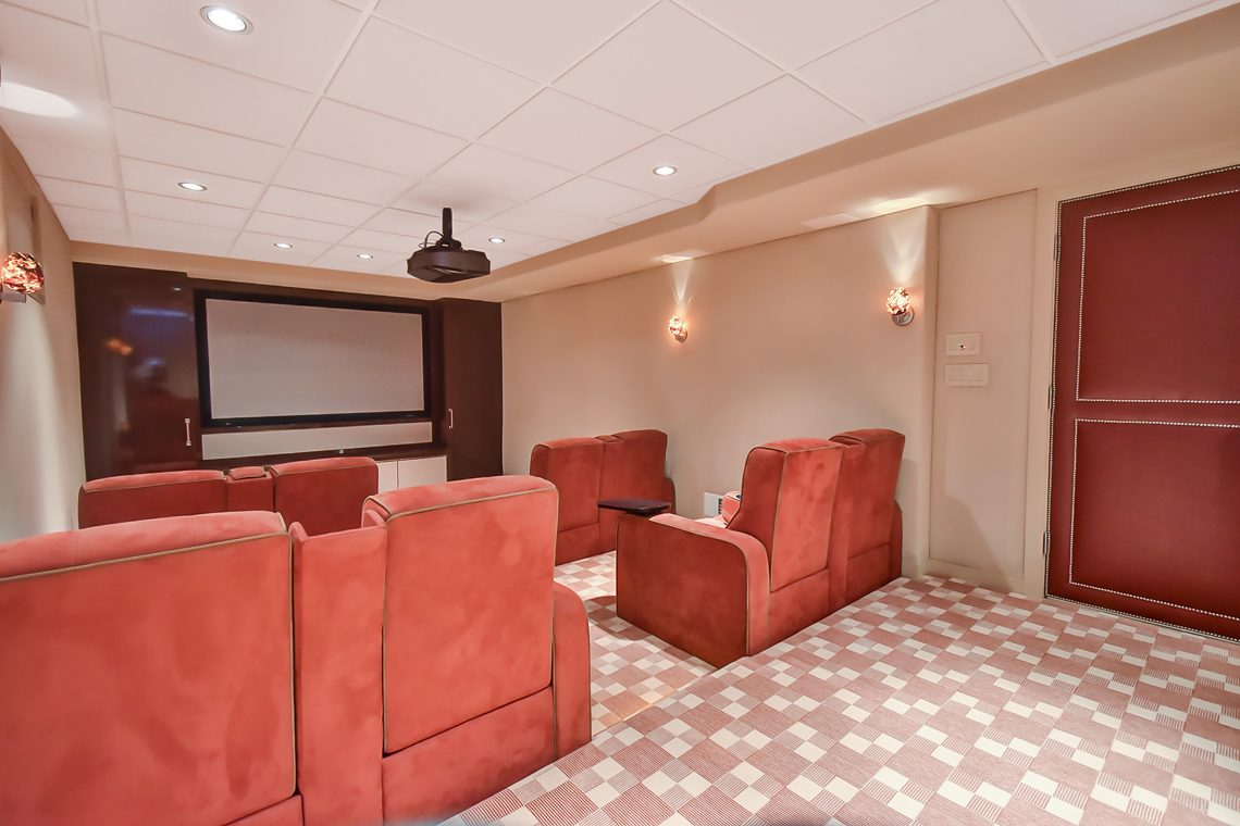 22 – 150 Hartshorn Drive – State of the Art Media Room