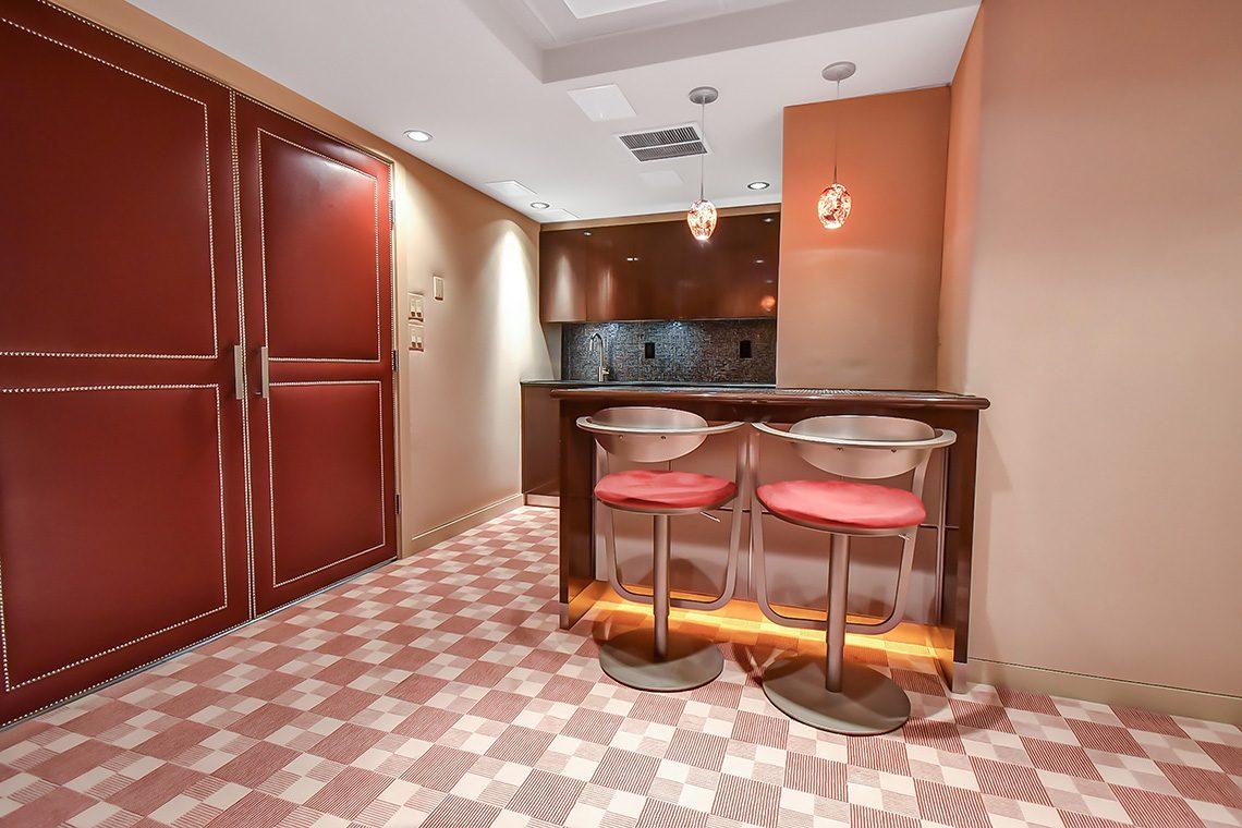 23 – 150 Hartshorn Drive – Media Room Wet Bar