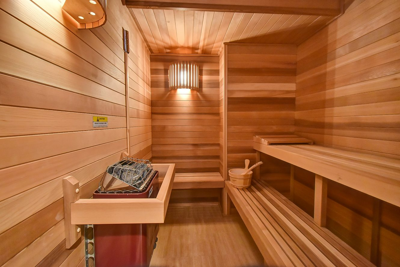 24 – 150 Hartshorn Drive – Sauna with a sound system