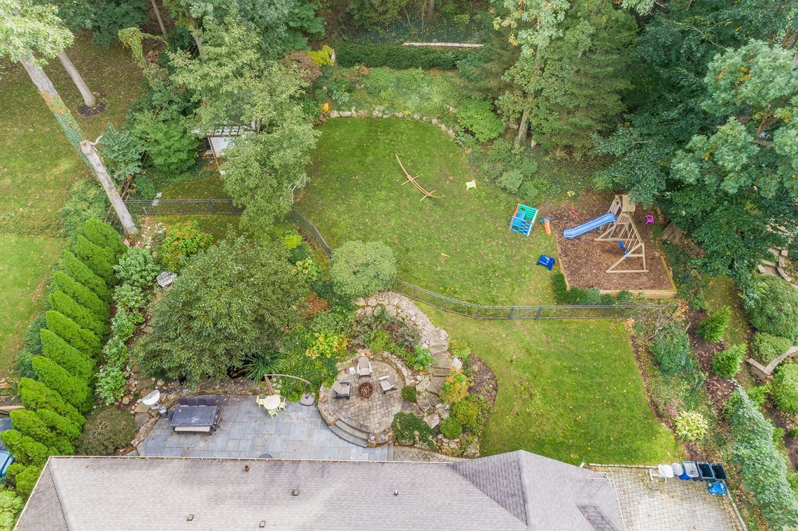 22 – 42 Sunset Drive – Aerial View of the Backyard