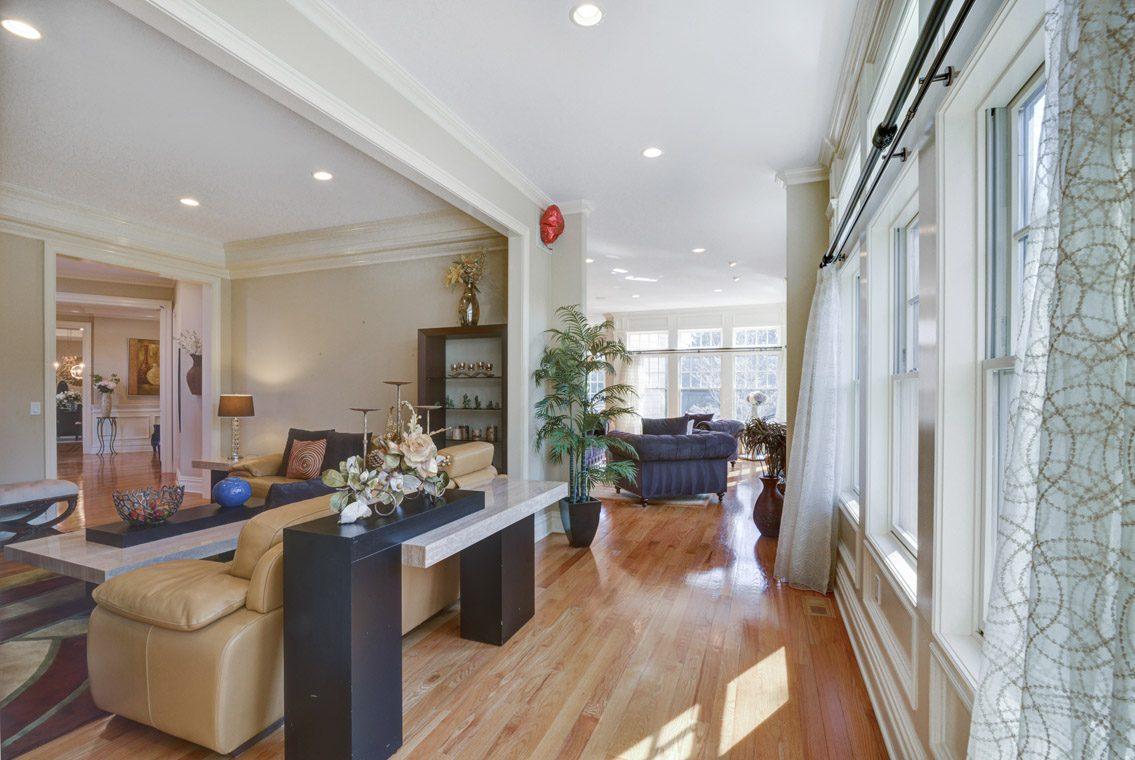 11 – 7 W Beechcroft Road – Living Room into Family Room